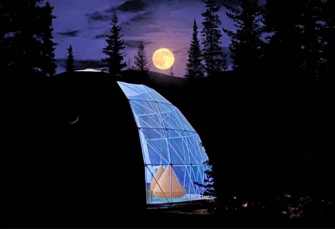 Dome by the moon